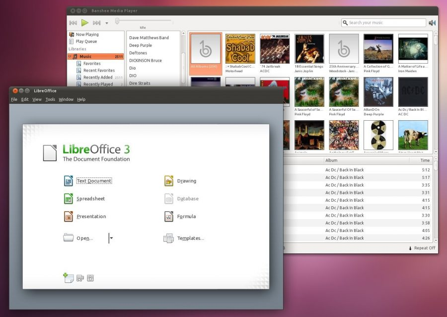 Banshee and LibreOffice