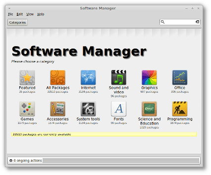 Software Manager in Linux Mint 11