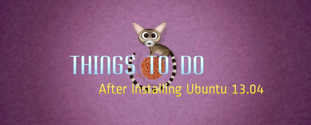 Things to Do After Installing Ubuntu 13.04