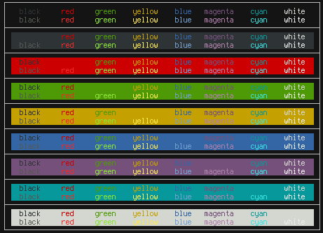 Color scheme commands
