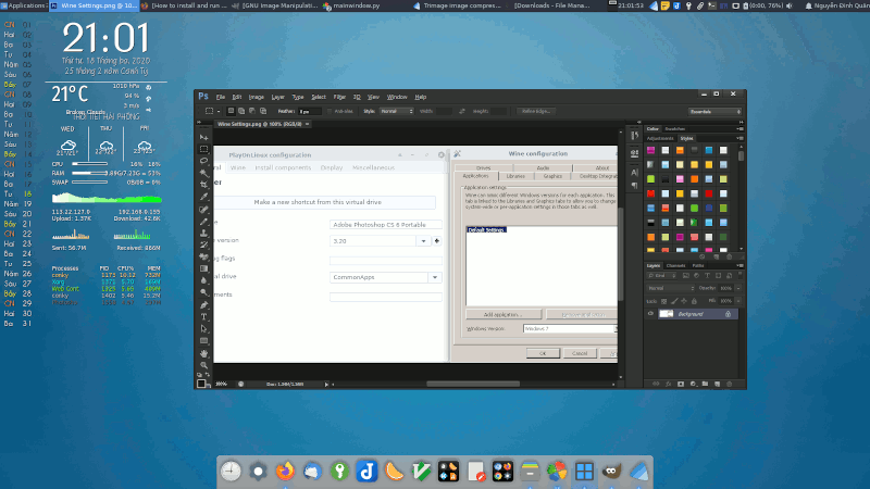 How to run Photoshop CS 6 on Linux with Wine