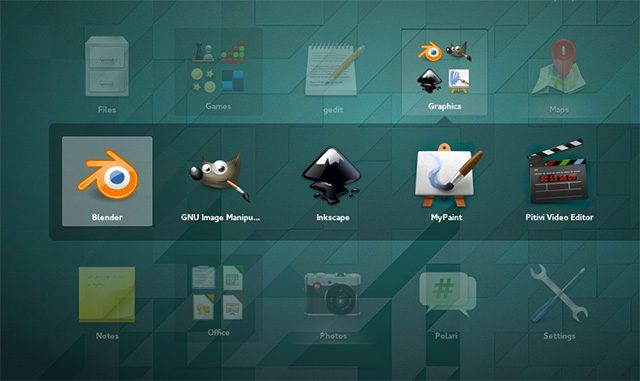 With GNOME 3.12, you can now create custom folders to make finding things easier.